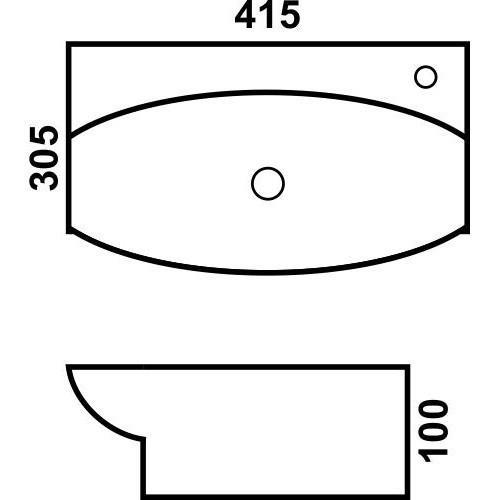 Керамическая раковина для ванной MLN-8014