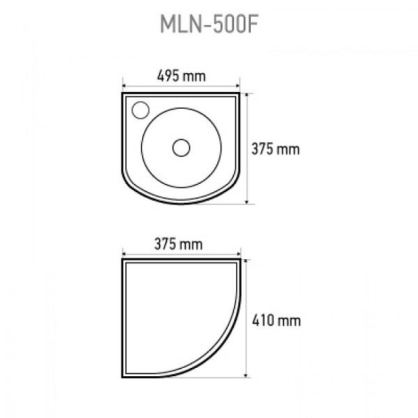 Раковина Melana MLN-500F для ванной