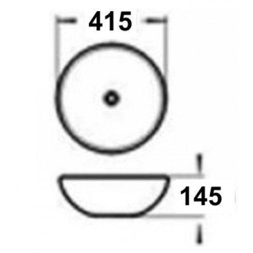 Керамическая раковина  MLN-J2027
