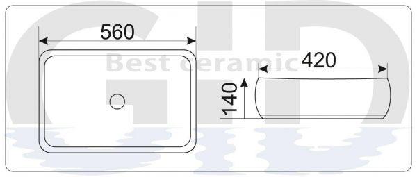 Керамическая раковина Mnc185