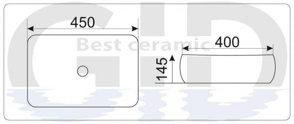 Керамическая раковина  Mnc188