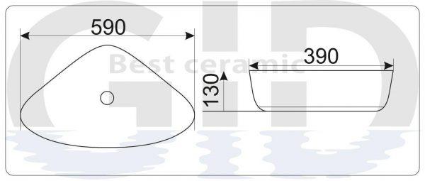 Керамическая раковина Mnc206