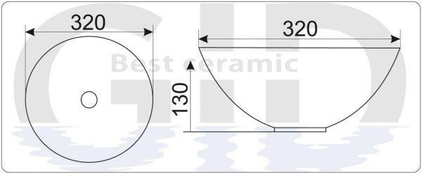 Керамическая раковина Mnc489