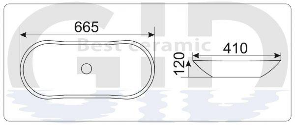 Керамическая  раковина Mnc503