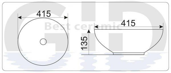 Керамическая раковина Mnc526
