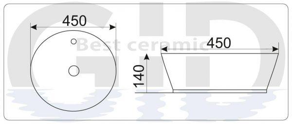 Керамическая  раковина Mnc534