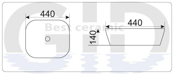 Керамическая раковина Mnc544