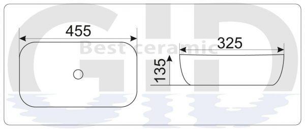 Керамическая раковина Mnc547