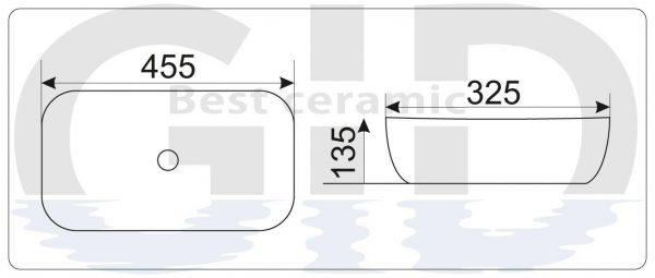 Керамическая раковина Mnc549