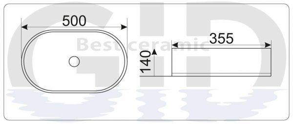 Керамическая раковина N9012