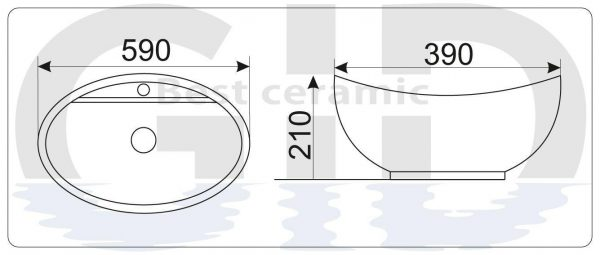 Керамическая раковина N9018
