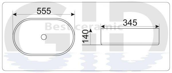 Керамическая раковина N9025