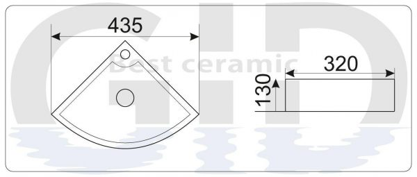 Керамическая раковина N9067b