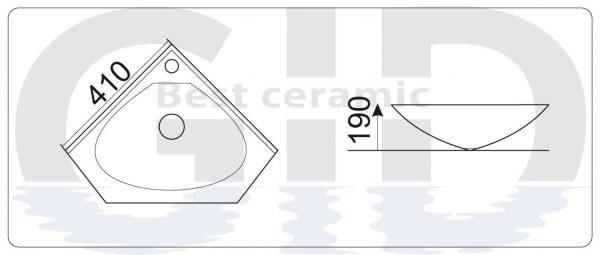 Керамическая раковина N9068b