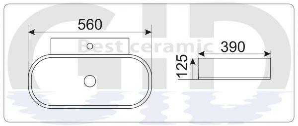 Керамическая раковина N9234