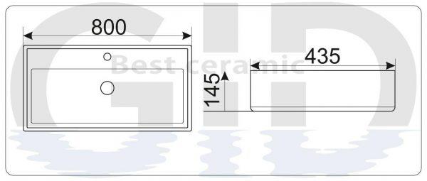 Керамическая раковина N9255