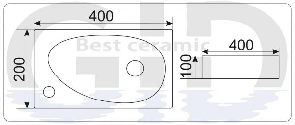 Керамическая раковина N9265