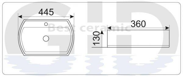 Керамическая раковина N9293