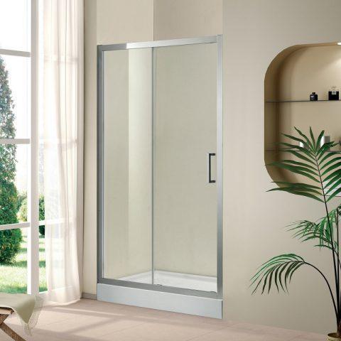 Душевая дверь  в проем Cezares PORTA-BF-1-140, профиль-хром