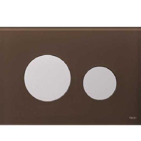 Лицевая панель Tece Loop Modular 9 240 678, кофейная
