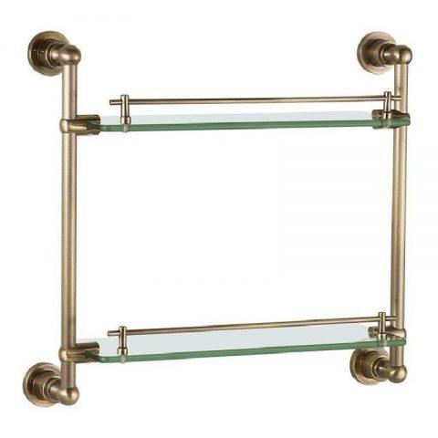 Полочка стеклянная Aquanet 3852, 43 см, бронза