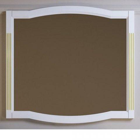 Зеркало OPADIRIS Лаура 100 см белый с патиной