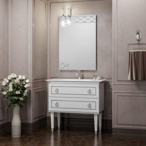 Зеркало со светильником SMILE Порто 80 см