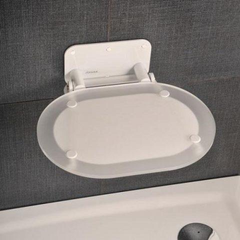 Сиденье откидное RAVAK Chrome белое