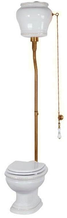 Унитаз Migliore Milady с высоким бачком, выпуск в стену, декор D3.BR бронза