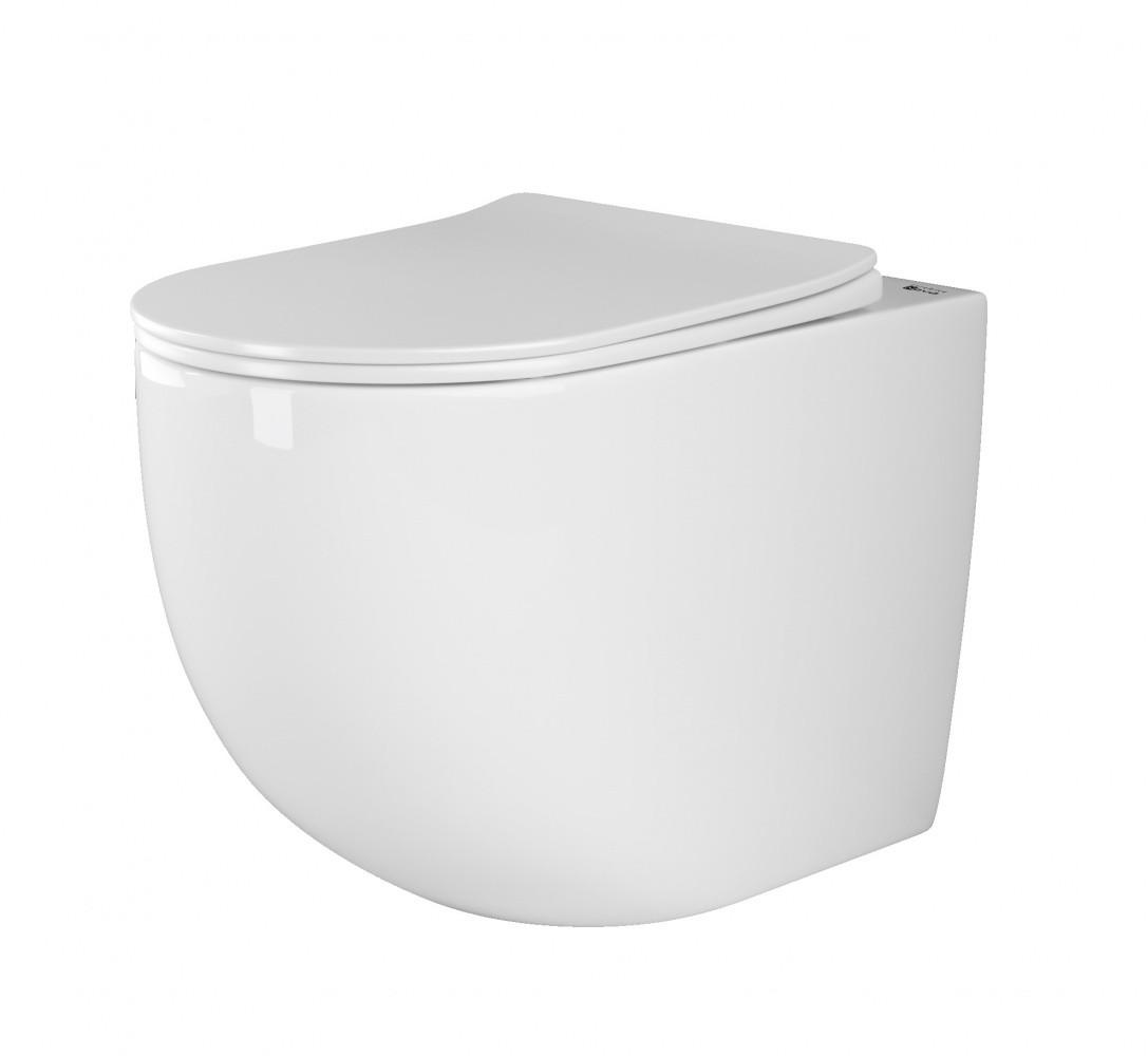 Унитаз-соло Ceramica Nova Mia Rimless CN1810 36 x 56 x 40 см приставной, безободковый, с сиденьем Soft Close