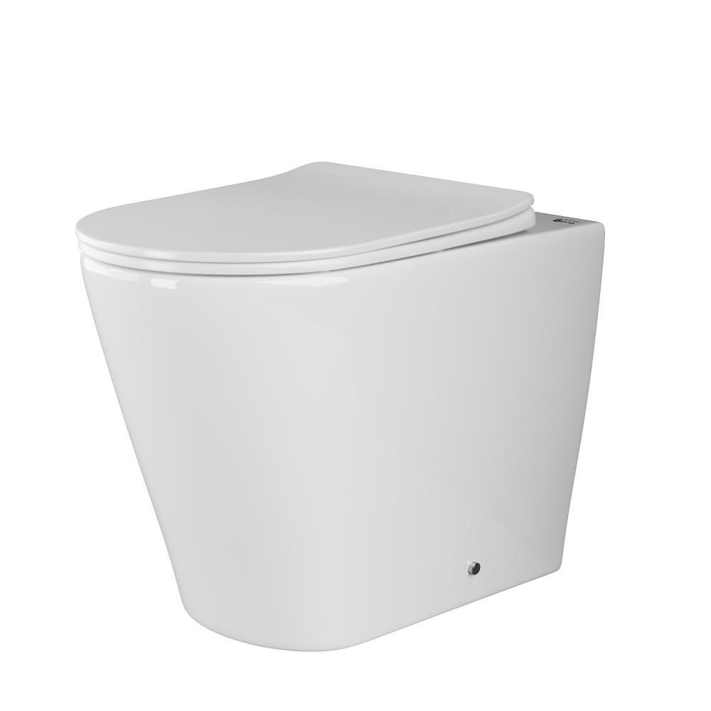 Унитаз-соло Ceramica Nova Highlight Rimless CN1812 36 x 56 x 42 см приставной, безободковый, с сиденьем Soft Close