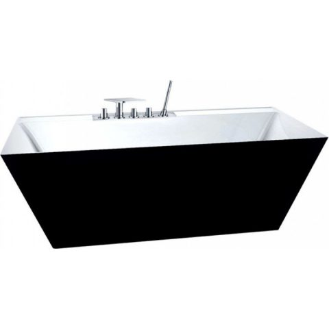 Акриловая ванна BelBagno 181x81 BB19-NERO/BIA