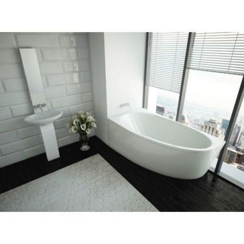 Акриловая ванна Акватек Дива 170x90 с панелью правая
