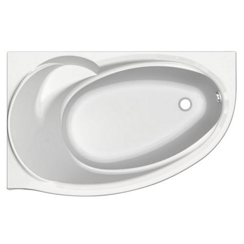 Акриловая ванна Акватек Бетта 150x95 см, каркас, левая