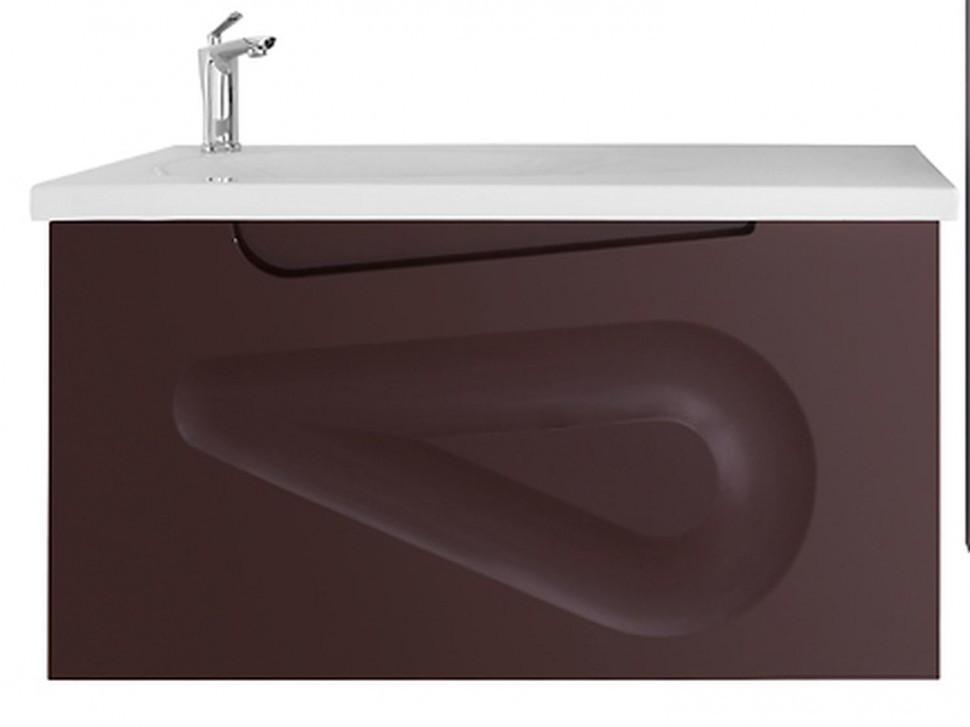 Тумба с раковиной Vod-ok Арнелла Капля 100/я, цвет шоколад