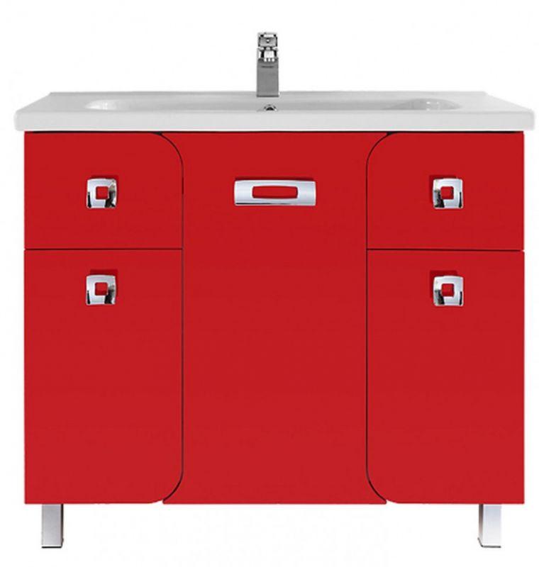 Тумба с раковиной Vod-ok Арнелла 90, цвет красный
