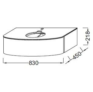 Тумба под раковину Jacob Delafon Presquile 80 см, EB1106-V13 палисандр