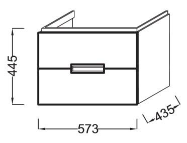 Тумба под раковину Jacob Delafon Reve 60 см, EB1134 EB1134-G1C, белый