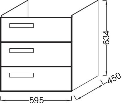 Тумба для раковины Jacob Delafon Rythmik 60 см, EB1307-G80 цвет Светло- коричневый
