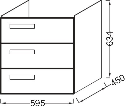 Тумба для раковины Jacob Delafon Rythmik 60 см, EB1307-E10 цвет Квебекский Дуб