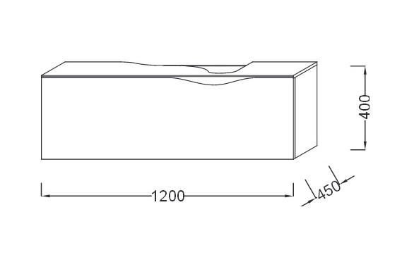 Тумба под раковину Jacob Delafon Stillness 120 см, EB2000-P7, подвесная, цвет - темный дуб
