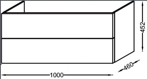 Тумба под раковину Jacob Delafon Vox 100 см, EB2075-R1-N18, белый