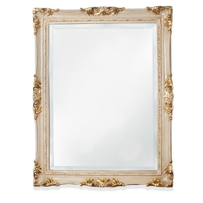 Зеркало Tiffany World TW00262avorio/oro в раме 72*92 см, слоновая кость/золото