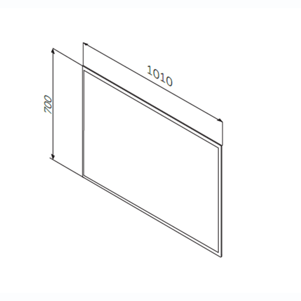 Зеркало настенное с LED-подсветкой AM.PM Spirit 2.0 M70AMOX1001SA 100 см, алюминиевый корпус