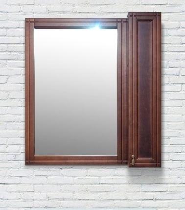 Зеркало-шкаф Della Mia 85 см, антикварный орех