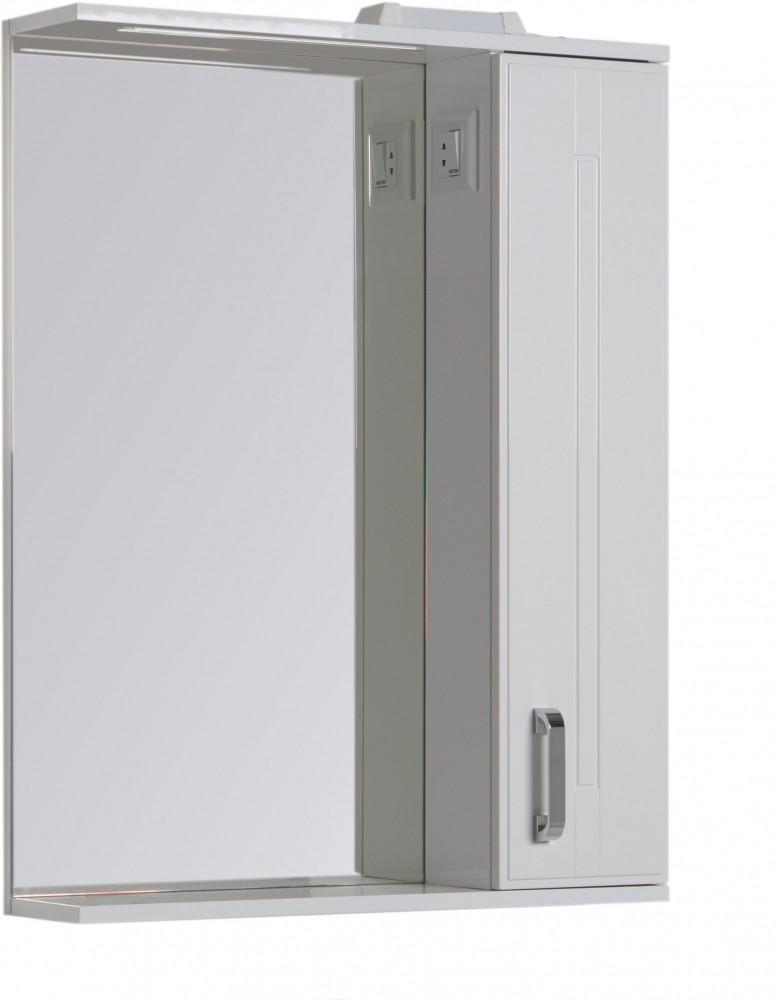 Зеркало Aquanet Рондо 70 со шкафчиком, белый, 00189162