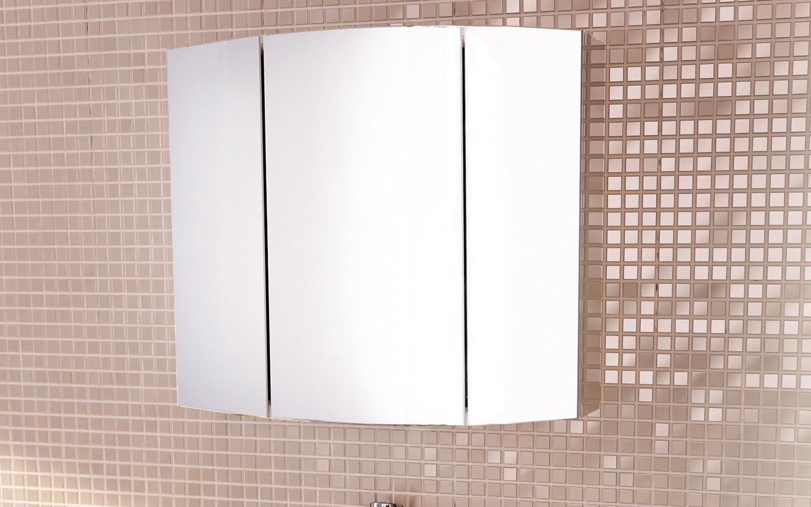 Зеркальный шкаф Comfortу Лаура-75-3 белый