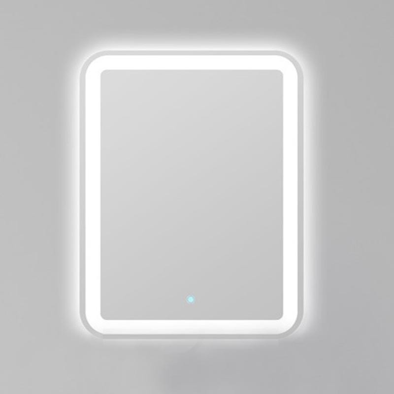 Зеркало BelBagno Fly SPC-600-800-LED, со светодиодным светильником, сенсорным выключателем и с прозрачной окантовкой