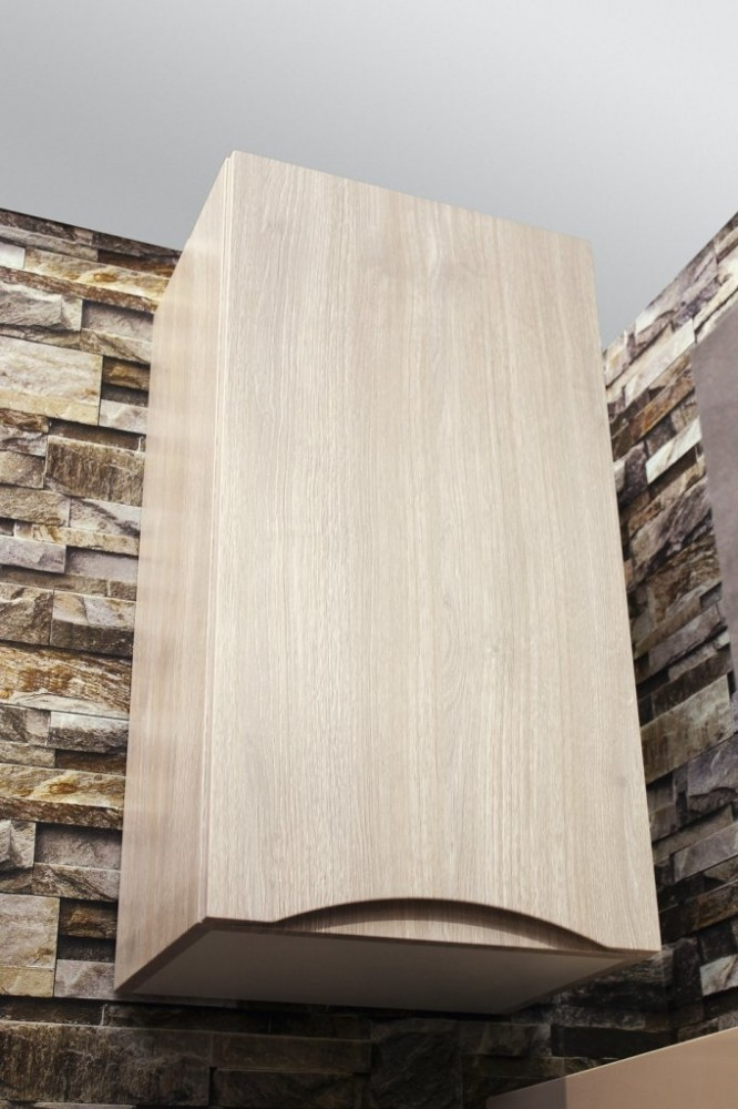 Шкаф подвесной BelBagno FLY-MARINO-750-1A-SC-RG-P-L, 40 х 30 х 75 см, Rovere Grigio/светлое дерево, левосторонний