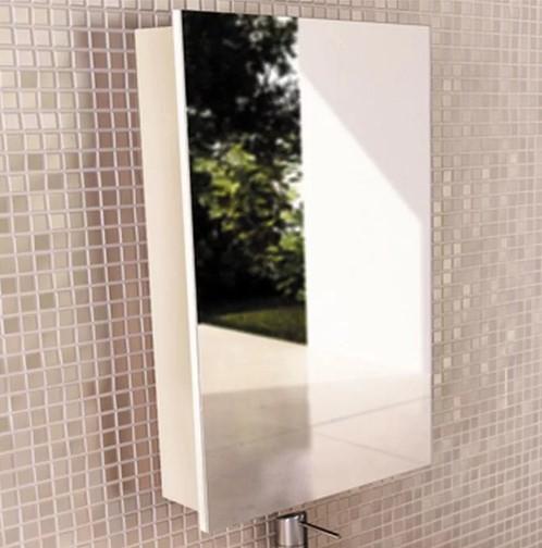 Зеркальный шкаф Comforty Диана 60 белый глянец